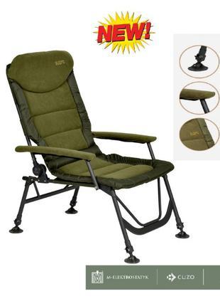 Карповое кресло для рыбалки Elektrostatyk Cuzo Supra Delux FK7