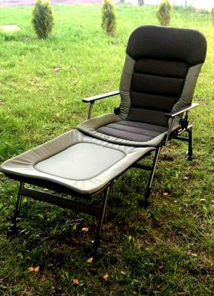 Кресло раскладушка карповая для рыбалки и отдыха Vario Elite X...