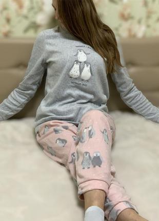 Флисовая пижама/домашний костюм тм primark {примарк} s,m,l