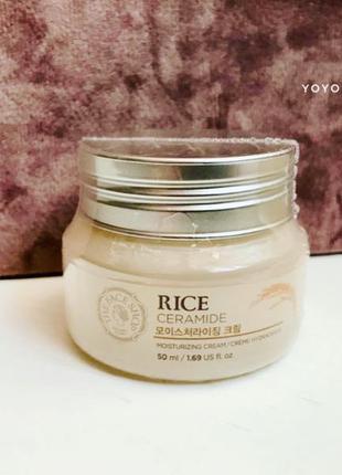 Крем с рисом и керамидами Корейская косметика