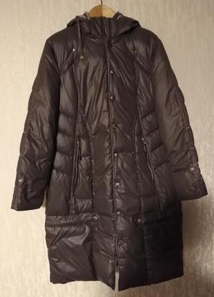 Пуховик пальто зима холофайбер длинный 54 56 размер