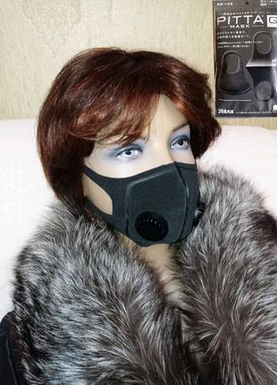 Многоразовая маска с клапаном,Питта,фабричная,