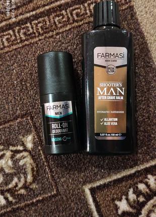 Набор ШАРИКОВЫЙ дезодорант и бальзам после бритья от Фармаси
