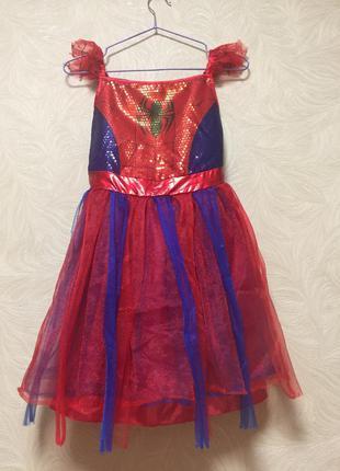 Новогоднее платье с паетками / карнавальный костюм детский для...