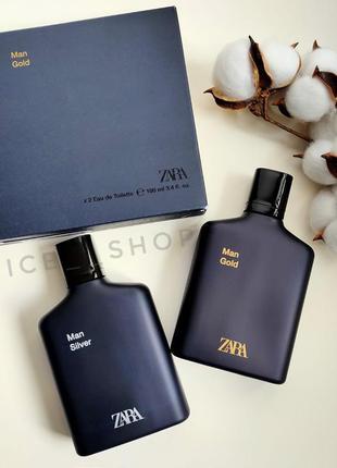 Zara man gold  silver духи парфюмерия туалетная вода оригинал ...