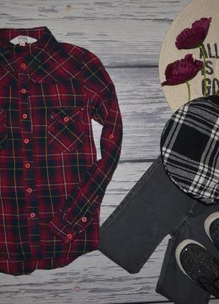 8-9 лет 134 см фирменная стильная натуральная рубашка блузка б...