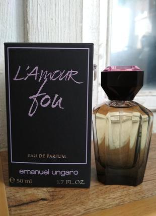 Оригинал! редкость! ungaro парфюмированная вода l'amour fou 50 мл