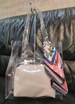 Хит лета 2019,сумка 3в1 шарф, сумка, косметичка