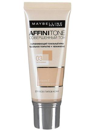 Тональный крем maybelline new york affinitone  03 light sand b...