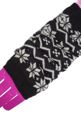 Митенки перчатки без пальцев женские теплые нидерланды