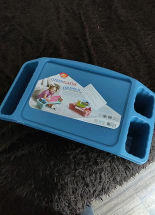 Столик поднос детский голубой