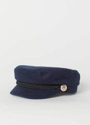 Шикарная кепка кепи милитари h&m