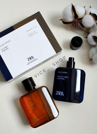 Zara blue spirit amber ego духи парфюмерия туалетная вода ориг...