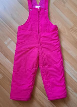 Зимний теплый яркий комбинезон штаны