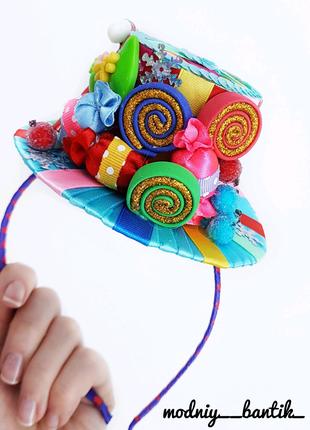Обруч ободок шляпка конфета конфетка с конфетой конфеткой