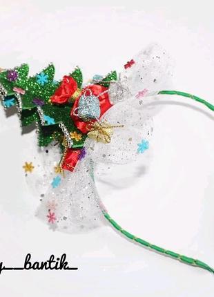 Обруч ободок елка елочка новогодний на новый год