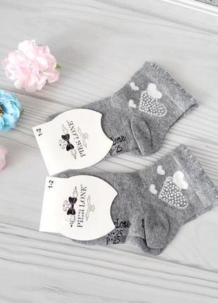 Серые нарядные носки для девочек 9-10 лет, турция pier lone