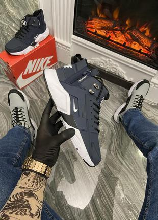 Мужские зимние кроссовки ❄️nike air huarache mid blue❄️ (термо)