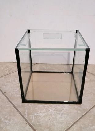 Аквариум куб 5 л 17х17х17 см 4 мм с крышкой