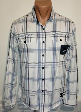 Мужская рубашка на кнопках smith and jones