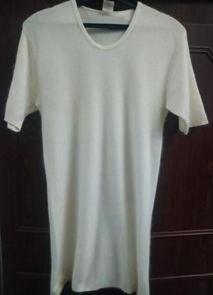 Термобелье - футболка согревающая из ангоры и овечьей шерсти m...
