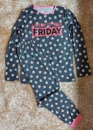Пижама для девочки 10-11 лет
