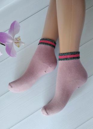 Розовые носки для девочек 5-8 лет, турция