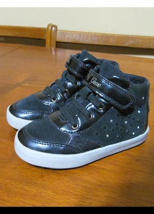 Кожаные ботинки geox  для девочки