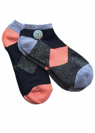 Комплект 2 пары. коттоновые укороченные носки с махровой стопо...