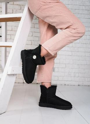 Ugg bailey button mini bling suede leather🆕шикарные женские уг...