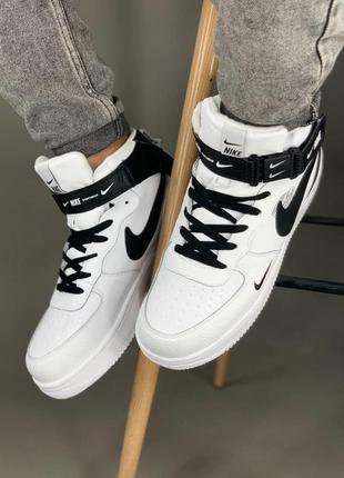Nike air force мужские зимние кроссовки найк белые