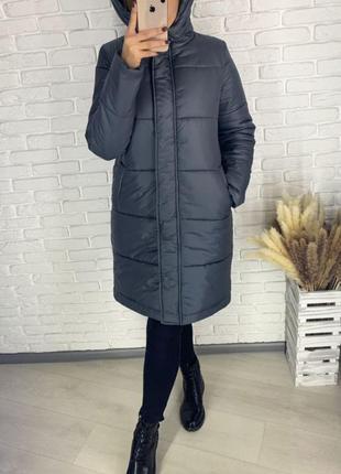 Куртка женская зимняя длинная 85