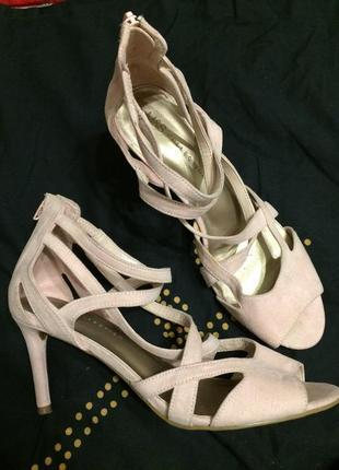 M&s marks & spencer босоножки сандали замшевые 26-26.5 см
