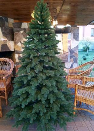 Литая елка Премиум 210 см, Новогодняя, искуственная, ялинка