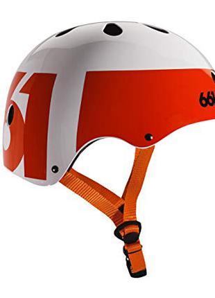 Шлем 661 Dirt Lid Hemet бело- оранжевый