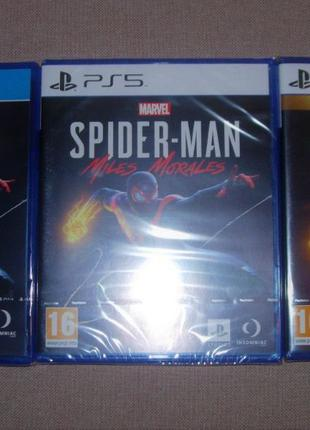 MARVEL Spider-Man: Miles Morales. Новые официальные Диски PS4/PS5