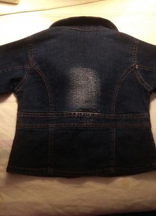 Джинсовый пиджачок для принцессы с вышивкой 100 грн.