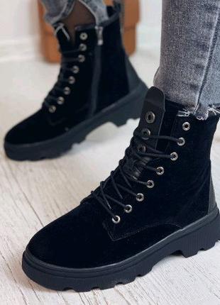 Ботинки женские черные 6590