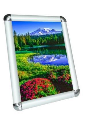 Рамка алюминиевая А1 формат 25 клик-система(с закругленными угла)