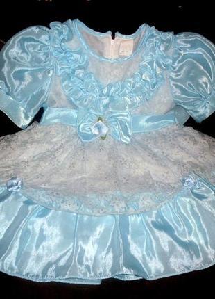Нарядное платье для праздников или фотосессий на 12-18 месяцев
