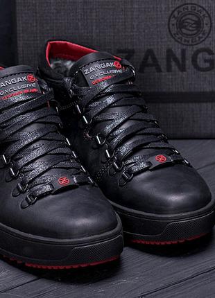 Мужские кожаные зимние ботинки zangak, зимние ботинки, ботинки