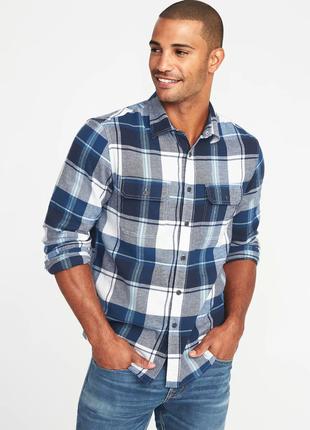 Фланелевая мужская рубашка xxxl old navy мужские рубашки олд неви