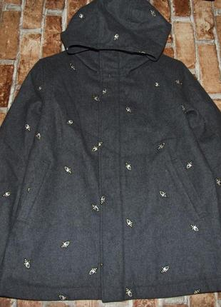 Пальто на замке с капюшоном 13-14 лет мальчику jeanc