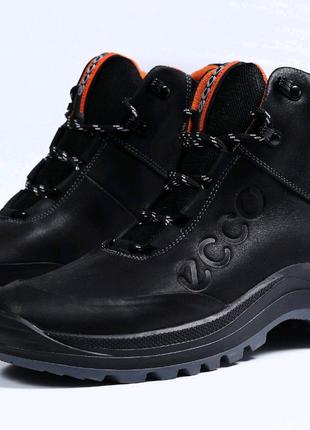 Ботинки  зимние мужские на меху Ecco. Артикул 31821.