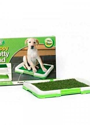 Туалет для собак (лоток для щенков) горшок трава