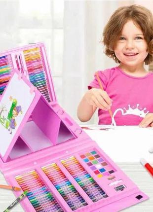 Набор для детского творчества в чемодане из 208 предметов. АКЦИЯ