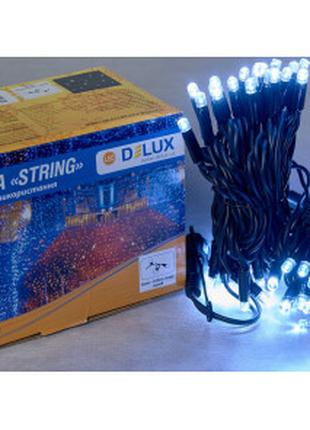 Гирлянда DELUX STRING 100LED 10m (2*5m) 20 flash белый/черн IP44