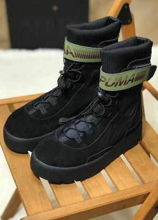 👢❄ женские зимние ботинки puma x fenty scuba boot black (арт. ...