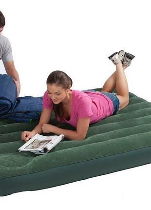 Надувная кровать велюр с насосом Intex 66928 296895