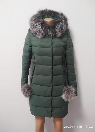 Красивый теплый пуховик, зимняя куртка, пальто зимнее
